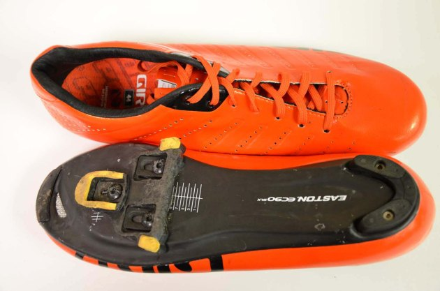 The Easton EC90 soles provide excellent stiffness during hard efforts
