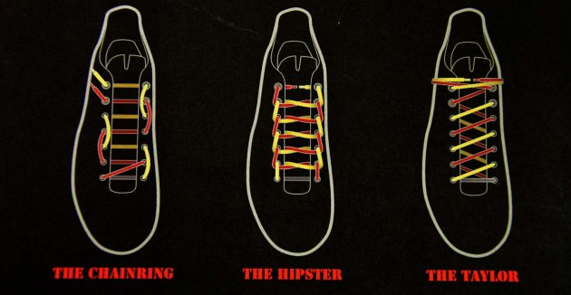 Giro even provided us with this handy guide to custom lacing patterns