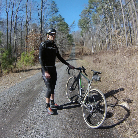 30% gravel climb. The Grade could do it. Our legs were another matter...